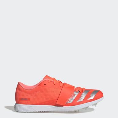 оранжевый Шиповки для легкой атлетики adizero tj/pv