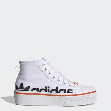 Chaussure Nizza Platform Mid Blanc Femmes Originals