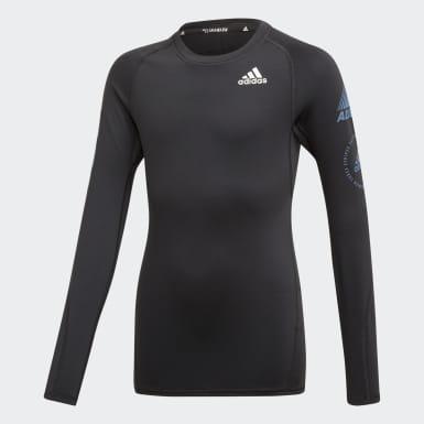 черный Лонгслив для фитнеса Alphaskin Sport Warm