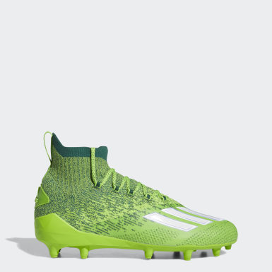 Men's Football Green Adizero Primeknit Cleats