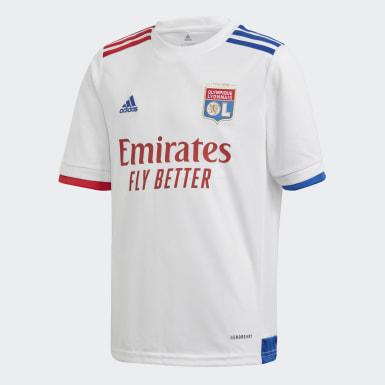 Camiseta primera equipación Olympique de Lyon 20/21 Blanco Niño Fútbol