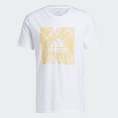 Men's Athletics White Tie-Dye Bleach Tee