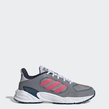 Women Running Grey 90s Valasion Shoes