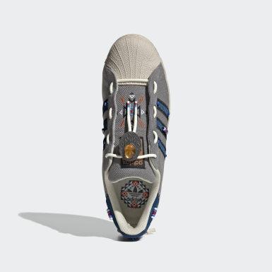 Men Originals Grey Superstar Laceless Shoes