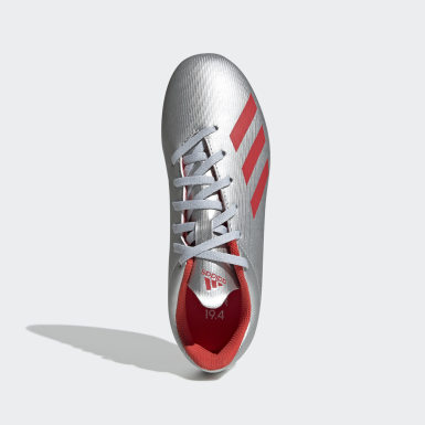 Calzado de Fútbol X 19.4 Multiterreno Plata Niño Fútbol