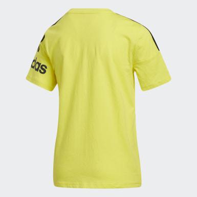 T-shirt Core3-Stripes jaune Enfants Entraînement