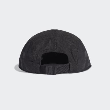 Tennis AEROREADY Five-Panel Reflective Running Kappe Schwarz