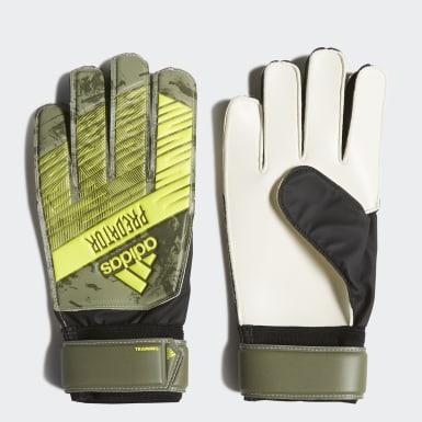 Football Green Predator Training Goalkeeper Gloves