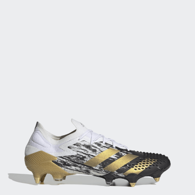 Chaussure Predator Mutator 20.1 Low-Cut Terrain gras Blanc Football
