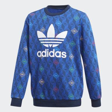 Sweat-shirt Crew bleu Adolescents Originals