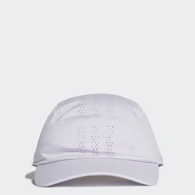 Tennis Purple Perforated Runner Cap