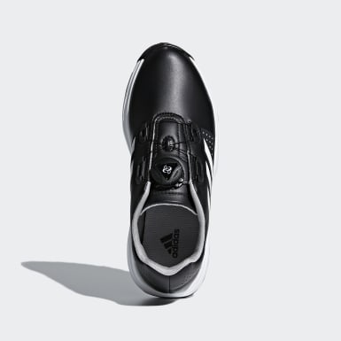 Kids Golf Black Adipower Boa Shoes