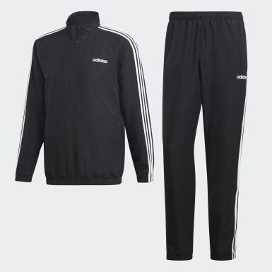 Pants con Sudadera 3 Franjas Woven Cuffed Negro Hombre Athletics