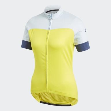 Camiseta Rad Trikot Amarillo Mujer Ciclismo