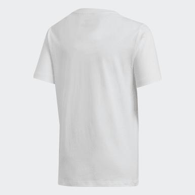 Genç Training Beyaz Essentials Linear Logo Tişört