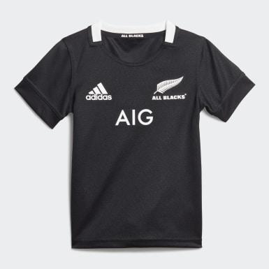Kinder Rugby All Blacks Mini-Ausrüstung Schwarz