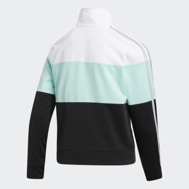 Youth Training Turquoise COLRBLK TRICOT JKT