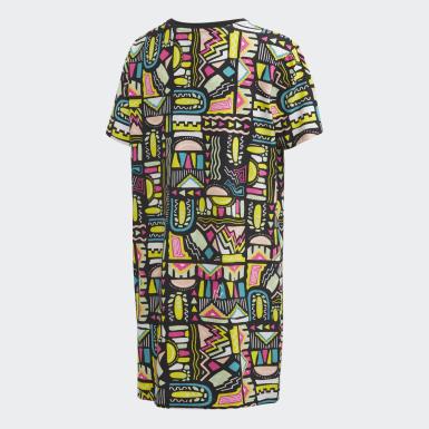 разноцветный Платье-футболка