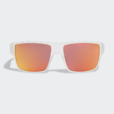 Padel Tennis White SP0006 Matte Blue Injected Sport Sunglasses