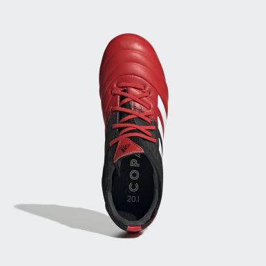 Bota de fútbol Copa 20.1 césped natural seco Rojo Niño Fútbol
