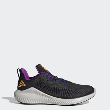 Men Running Black Alphabounce+ Run EM Shoes