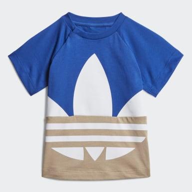 Conjunto Shorts y Polera Trifolio Grande (UNISEX) Azul Niño Originals