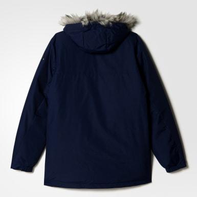 синий Куртка Filled Fur-Trim