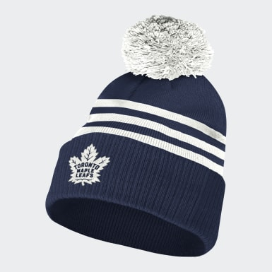 Men Hockey Multicolor Maple Leafs 3-Stripes Cuffed Pom Beanie