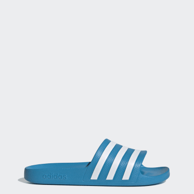 Adilette Aqua Sandaler Blå