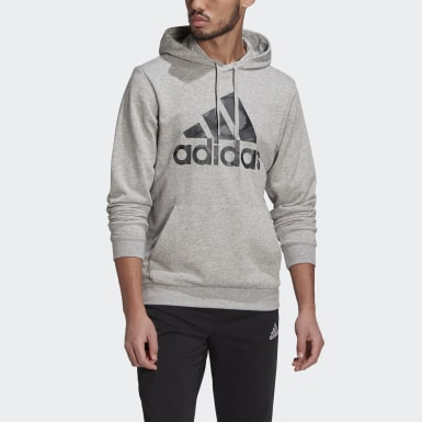 Hoodie Essentials Camouflage Grigio Uomo Athletics