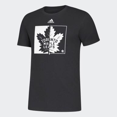 MAPLE LEAFS BLACK & WHITE TONAL LOGO TEE