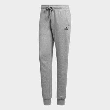 Women Training Grey Essentials Logo Cuffed Pants