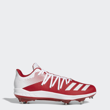 Men's Baseball Red Adizero Afterburner 6 Cleats