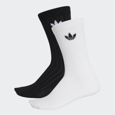 Originals Black Mid Ribbed Crew Socks 2 Pairs