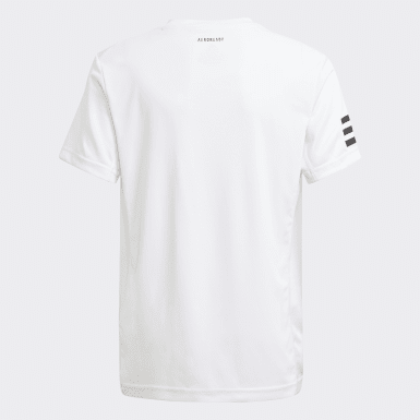 T-shirt Club Tennis 3-Stripes blanc Adolescents Tennis