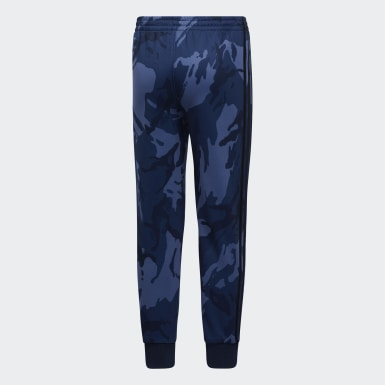 Children Training Blue Core Camo Joggers