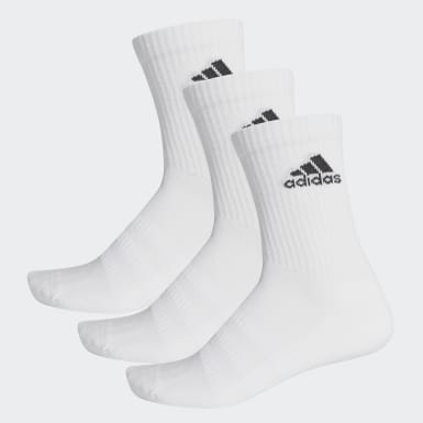 Training White Cushioned Crew Socks 3 Pairs
