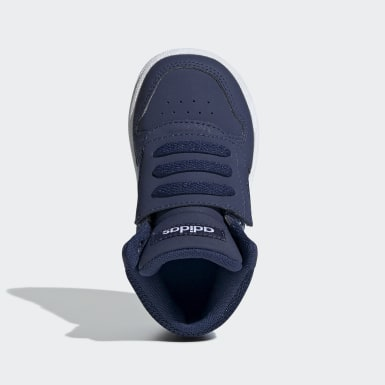 Infant Sport Inspired Blue Hoops 2.0 Mid Shoes