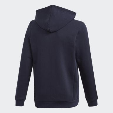 Boys Træning Blå Must Haves Fleece Full-Zip hættetrøje