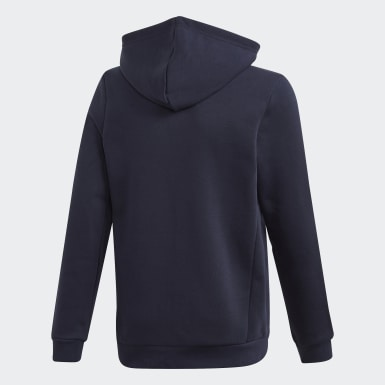 Boys Träning Blå Must Haves Fleece Full-Zip Hoodie