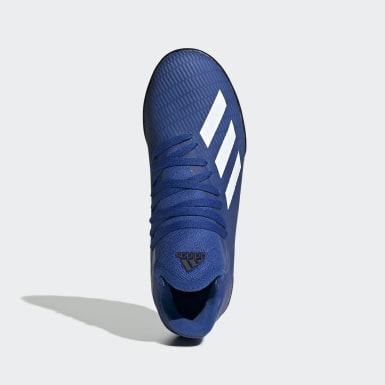 Chuteira X 19.3 Society Azul Meninos Futebol