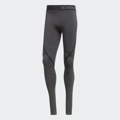 Men Yoga Grey Alphaskin 360 Seamless Tights