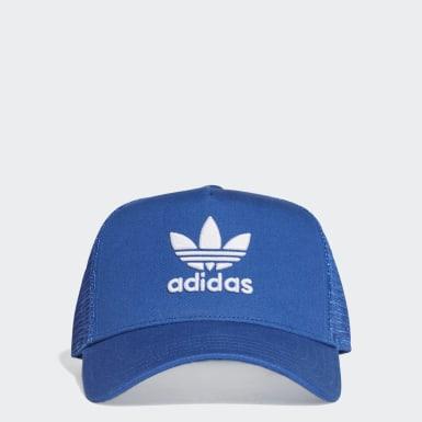 Cappellino Trefoil Trucker Blu Originals