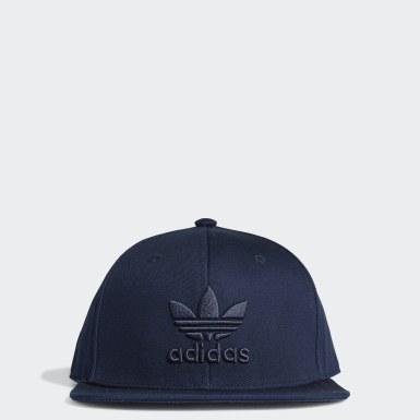 Originals สีน้ำเงิน หมวกแก๊ปสแนปแบ็ค Trefoil