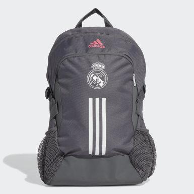 Mochila Real Madrid (UNISSEX) Cinza Futebol