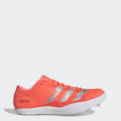 оранжевый Шиповки для легкой атлетики adizero lj