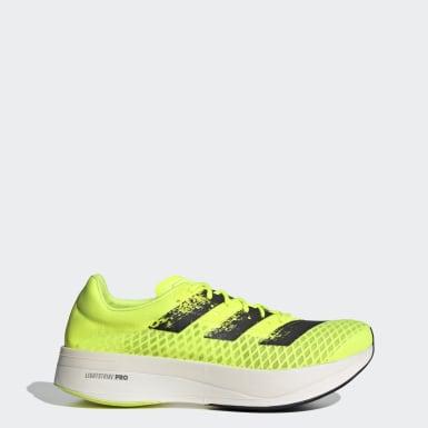 Hardlopen geel Adizero Adios Pro Schoenen