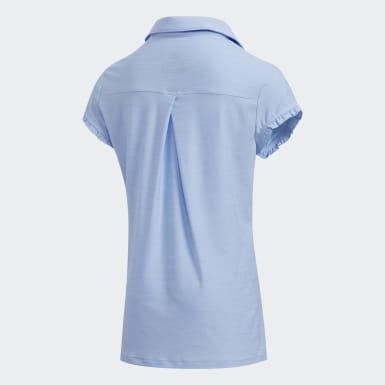 Kids Golf Blue Space-Dyed Polo Shirt