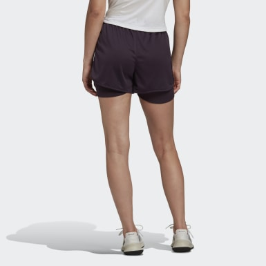 Women Running Purple Marathon 20 Two-in-One Shorts