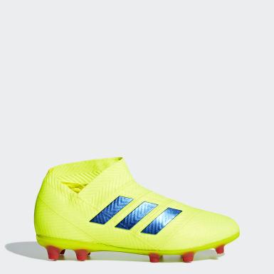5eb7711de Nemeziz 18+ Firm Ground Boots. Kids Football